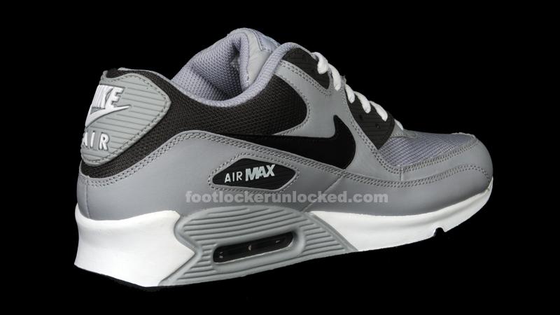 nike air max grey and black