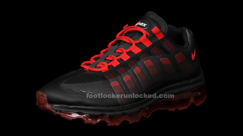 Nike Air Max 95 Black and Red Running Shoes