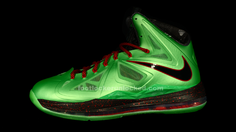 Gallery For > Lebron X Green And Red